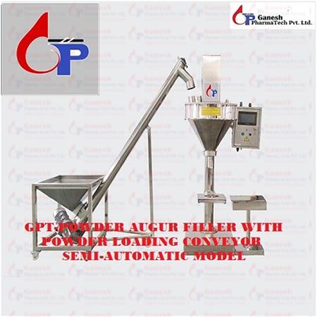 GPT-Powder Augur Filler With Powder Loading Conveyor Semi Automatic Model
